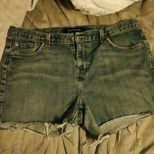 Calvin Klein cutoff Jean shorts size 14